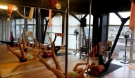 A little warm-up in Aerial Dance Studio