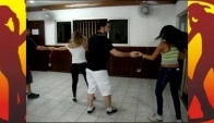 Academia Country Dance Sertanejo Exerccio de Sincronia Turma