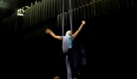 Aerial Dance - silks - how to do a drop and a flip over