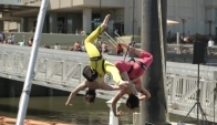 Aerial Dance at Spruce Street Harbor Park Opening Day - Philadelphia