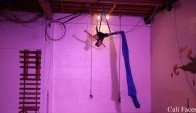 Beautiful aerial silks dancer - Aerial dance