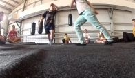 Capoeira class in Kids dance and circus camp