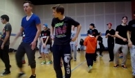 Chicago Footwork class with King Charles in Lille France