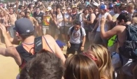 Crazy mosh pit at Lollapalooza Perrys stage