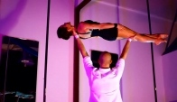 Daniela and Bryan Jungle Book Acro Dance Routine At Onyx Pole and Aerial Fitness Studio