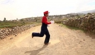 Epic Mario Bros popping dance In Real Life