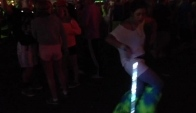 Girl dance with a glowstick