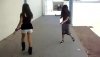 Girls Shuffling at School On a Boring Day with Audio