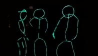 Halloween costume Glowstick people dancing