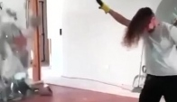 Headbanging while using power tools