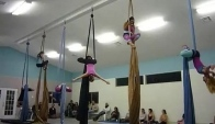 Intermediate Aerial Silks class performance