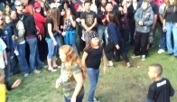 Kids mosh pit at metal in the park