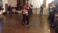 Kizomba Cymeone and Tabara demo after class