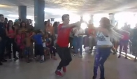 Latin girl dance Yaraliz and Joselito