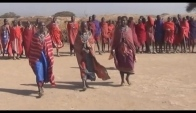 Maasai song traditional jumping dance and sand storm