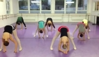 Modern dance class warm-up - Jazz dance