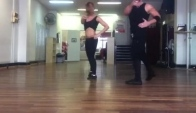 Nestor and Melanie salsa shines choreography training