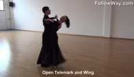 Open Telemark and Wing Slow Waltz