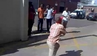 Pantsula dance perfomed by factory workers
