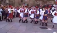 Polish traditional folk dance Krakowiak - national dance