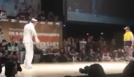 Uk bboy championship popping demi-final Salah vs Greenteck