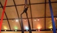 Year old Amazing Elizabeth's Aerial Silk Dance Performance