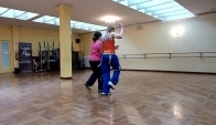 Zumba Merengue Bailando por ah with Veronica blind dancer