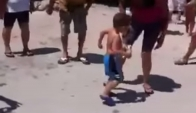 Child dancing Merengue superrrrr