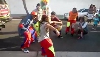 Clowning dance