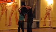 Couple dancing Merengue